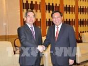 越共中央经济部部长阮文平对上海进行工作访问