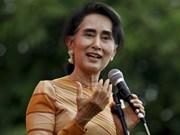 缅甸国务资政兼外长昂山素季对越南进行正式访问