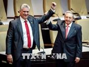 越南领导向古巴新任国务委员会主席兼部长会议主席迪亚斯-卡内尔致贺电