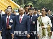 缅甸国务资政昂山素季圆满结束对越南进行的正式访问