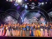 佳丽阮氏金玉摘下2018年越南全球海洋小姐选美大赛后冠