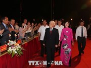 阮富仲出席大瞿越国建国1050周年纪念典礼