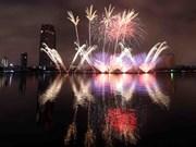 2018年岘港国际烟花节开幕  烟花在夜空绚丽绽放