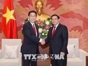 越南-日本友好议员小组主席范明政会见日本客人