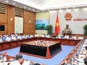 越南政府总理阮春福与九龙江三角洲各省就预防河岸坍塌和海岸侵蚀现状举行工作会议
