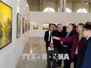 越南画家阮明山当代绘画作品展在阿尔及利亚举行