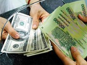 16日越盾兑美元中心汇率上涨20越盾