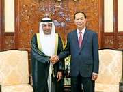 越南国家主席陈大光接受三国新任驻越大使递交国书