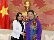 越南国会常务副主席丛氏放会见古共青盟第一书记