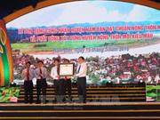 胡志明主席诞辰128周年:乂安省南坛县荣获新农村建设标准达标县证书