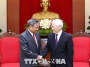 越共中央总书记阮富仲会见老挝人民革命党中央组织部代表团