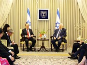 胡志明市委书记阮善仁会见以色列总统鲁文·里夫林