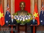 越南国家主席陈大光与澳大利亚总督共同举行新闻发布会