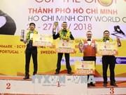 越南选手夺得2018年胡志明市世界杯开伦(三球)台球锦标赛冠军