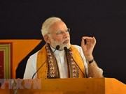 印度总理抵达印尼  开始东南亚三国访问之行