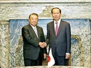 国家主席陈大光会见日本国会众议院议员古屋圭司