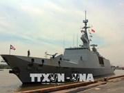 法国海军军舰对胡志明市进行友好访问