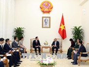 越南政府总理阮春福会见韩国国防部部长