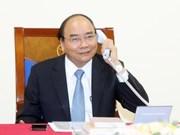 阮春福总理与丹麦首相通电话