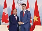 越南政府总理阮春福与加拿大总理贾斯廷举行会谈