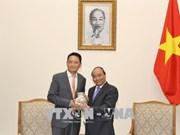 越南政府总理阮春福会见韩国新任驻越大使金度铉