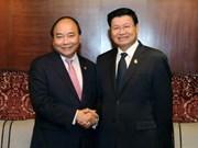 阮春福同老挝政府总理通伦·西苏里举行会谈