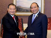 政府总理阮春福会见泰国泰国酿酒公司总裁兼首席执行长苏华荣