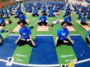第四次国际瑜伽日活动在河内举行