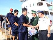 在越南长沙群岛遇险的31名船员已安全回家