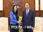 越南国家主席陈大光会见离任辞行的波兰驻越大使