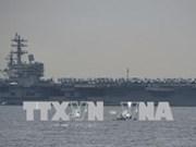 美国海军里根号航空母舰抵达菲律宾