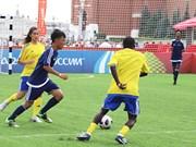 越南足球代表团参加2018年俄罗斯世界杯框架内的活动