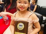 七龄越南女童夺得全美天才儿童国际钢琴提琴赛桂冠