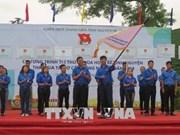 """2018年""""年轻科学知识分子参与农业结构调整""""活动出征仪式在太原省举行"""