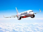捷星太平洋航空一架飞机因鸟撞在同海机场停留多小时