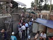 胡志明市各团体组织走访慰问柬埔寨金边火灾受灾越裔