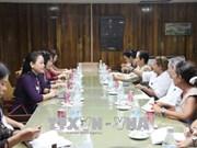 越南妇联主席对古巴进行访问 促进两国妇女组织友好关系