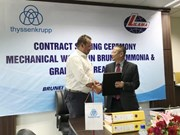 越南机械安装总公司为文莱化肥厂制造与安装钢结构设备