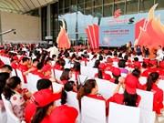 """2018年""""知恩的热血""""献血日暨红色行程出征仪式在河内举行"""