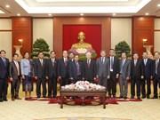越共中央总书记阮富仲会见老挝国会副主席森暖