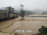 越南北部山区暴雨来袭 洪水爆发