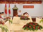 越共中央书记处常务书记陈国旺走访嘉莱省