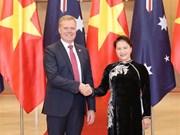 国会主席阮氏金银与澳大利亚众议院议长托尼•史密斯举行会谈