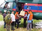 越南人民军第五军区责成各单位加入老挝水电站大坝坍塌事故的救援工作