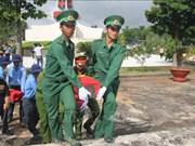 隆安省举行25具越南志愿军遗骸追悼会和安葬仪式