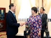 陈大光会见比利时和加拿大驻越大使