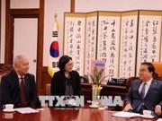 """韩国新任国会议长文喜相:韩国视越南为""""新南向政策""""的重要伙伴"""