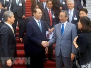 越南国家主席陈大光会见日越经济委员会代表团