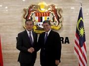 中国与马来西亚进一步加强友好合作关系