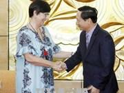 """比利时驻越大使荣获""""为各民族和平友谊""""纪念章"""